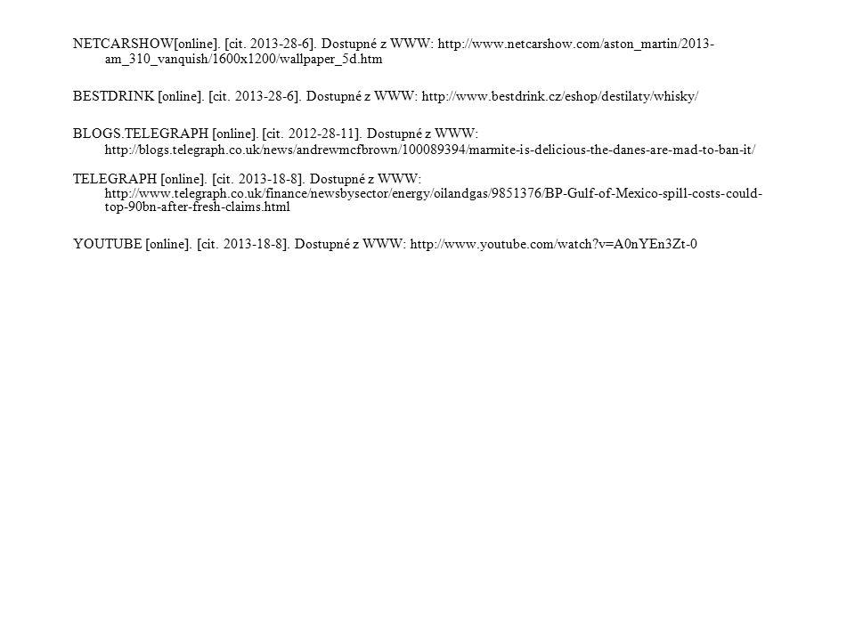 NETCARSHOW[online]. [cit. 2013-28-6]. Dostupné z WWW: http://www